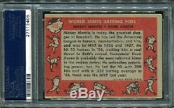 1958 Topps #418 MICKEY MANTLE HANK AARON PSA 3.5 World Series Batting Foes Card