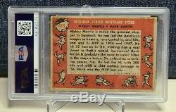 1958 Topps #418 Mickey Mantle& Hank Aaron PSA 1 World Series Batting Foes