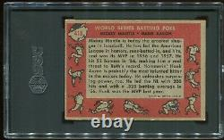 1958 Topps #418 World Series Batting Foes Hank Aaron Mickey Mantle SGC 4.5 VGEX+