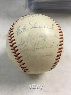 1958 Yankees World Series Team / Spring Training Signed Baseball JSA COA LOA
