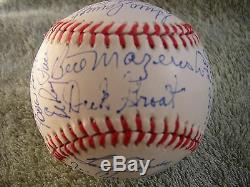 1960 Pittsburgh Pirates World Series Champions Team Signed Baseball