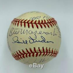 1960 Pittsburgh Pirates World Series Champs Team Signed Baseball With JSA COA