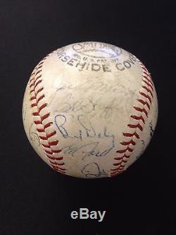 1961 Yankees World Series Champions Autographed Team Baseball withMaris JSA