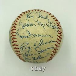 1963 Los Angeles Dodgers World Series Champs Team Signed Baseball 29 Sig JSA COA