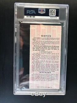 1963 World Series PSA Ticket Pass Koufax MVP Tops Ford/Mantle HR 15 NYY Dodgers