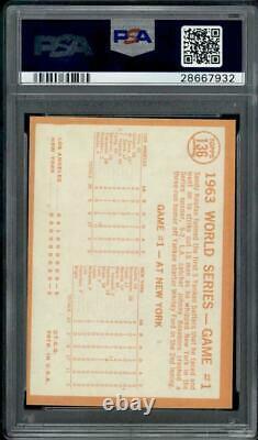 1964 Topps #136 World Series Game 1 PSA 8