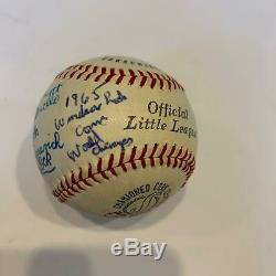 1965 Little Little League World Series Windsor Locks Team Signed Baseball & Bat