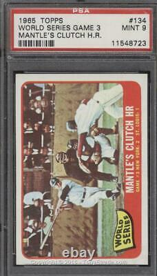 1965 Topps #134 Mickey Mantle World Series Game 3 Clutch H. R. PSA 9