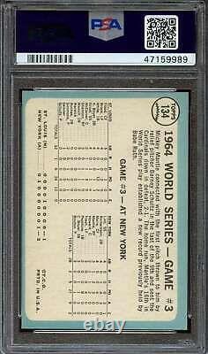 1965 Topps #134 World Series Game 3 Mickey Mantle Psa 6 Hof Adt4332