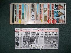 1968 Topps Baseball Detroit Tigers Complete Team Set(28) & 1969 World Series Set