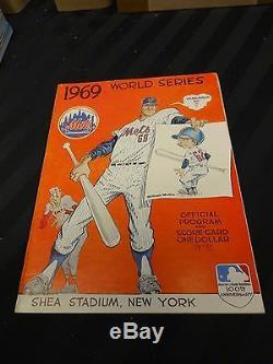 1969 World Series New York Mets Official Program Shea Stadium Flushing Game 3