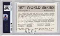 1971 Fleer World Series Roberto Clemente #69, HOF, PSA NM-MT 8