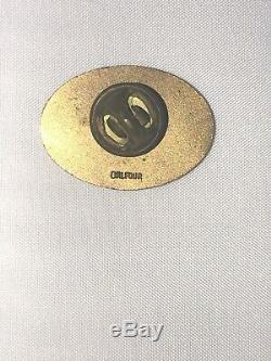 1974 Los Angeles LA Dodgers World Series Press Media Pin Balfour