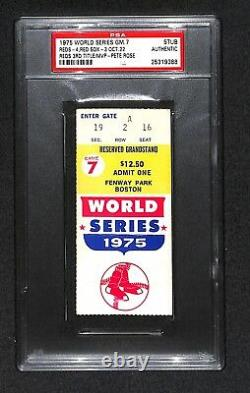 1975 World Series Game 7 Ticket Cincinnati Reds 3rd Ws Title Champions Psa Rare