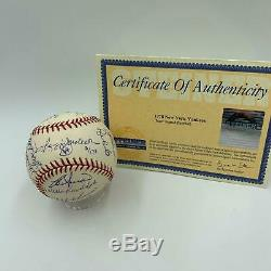 1978 New York Yankees World Series Champs Team Signed WS Baseball Steiner COA