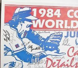 1984 TEXAS LONGHORNS Baseball Team Signed OMAHA COLLEGE WORLD SERIES Poster