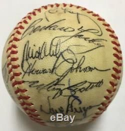 1984 World Series DETROIT TIGERS Team Signed Baseball SPARKY ANDERSON HOF