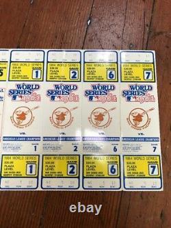 1984 World Series Ticket Strip Detroit Tigers San Diego Padres
