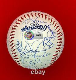1986 NY METS Team 35x Signed Baseball World Series Steiner COA Gooden/Strawberry