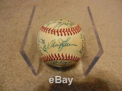 1986 NY Mets World Series Champions ONL Chub Feeney Autograph Baseball JSA LOA