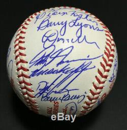 1986 NY Mets team signed World Series baseball 35 Auto Gary Carter JSA LOA