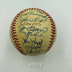 1986 New York Mets World Series Champions Team Signed NL Baseball JSA COA