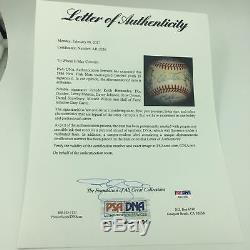 1986 New York Mets World Series Champions Team Signed NL Baseball PSA DNA COA