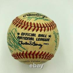 1986 New York Mets World Series Champs Team Signed Vintage Feeney NL Baseball