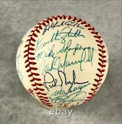 1988 La Dodgers Team Autographed World Series Baseball Psa/dna 30 Signatures