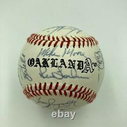 1989 Oakland A's Athletics World Series Champs Team Signed Baseball JSA COA
