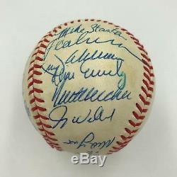 1991 Atlanta Braves NL Champs Team Signed 1991 World Series Baseball JSA COA