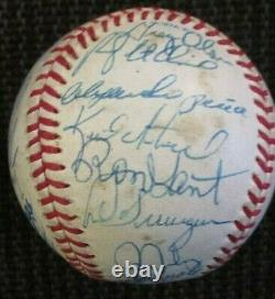 1991 Atlanta Braves Team Signed World Series Baseball Smoltz Jones Psa/dna Loa