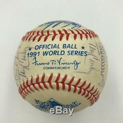 1991 Minnesota Twins WS Champs Team Signed World Series Baseball With JSA COA