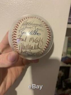 1995 Atlanta Braves World Series Champs Team Signed NL Baseball