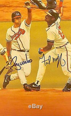 1995 Braves World Series Baseball Signed Autographed Lithograph COA PROOF