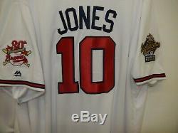 1995 Majestic Atlanta Braves CHIPPER JONES World Series Baseball JERSEY New WHT