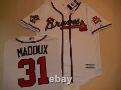 1995 Majestic Atlanta Braves GREG MADDUX World Series Baseball JERSEY New WHITE