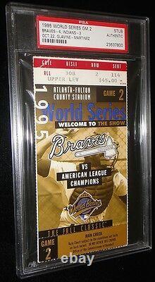 1995 World Series Game 2 Ticket Atlanta Braves Tom Glavine Win Ws Mvp Psa