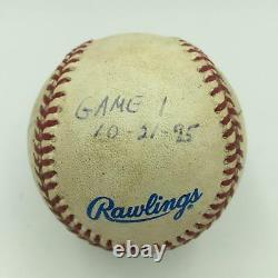 1995 World Series Game Used World Series Baseball Signed By Umpire Crew JSA COA