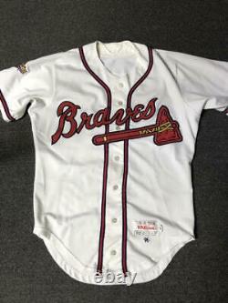 1996 Rafael Belliard Atlanta Braves World Series Game Used Worn Baseball Jersey