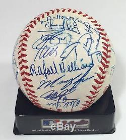 1996 World Series Braves Team Signed Autograph Baseball Greg Maddux COA