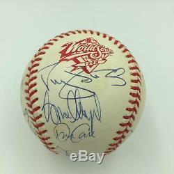 1998 NY Yankees World Series Champs Team Signed Baseball Derek Jeter JSA COA