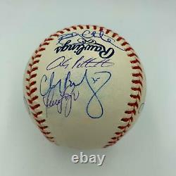 2000 NY Yankees World Series Champs Team Signed Baseball Mariano Rivera JSA COA