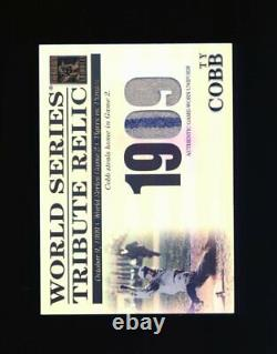 2003 Topps Tribute Ty Cobb 1909 World Series Patch #/425