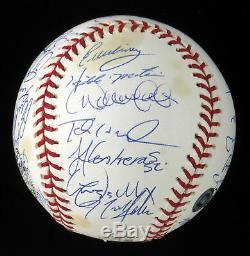 2003 Yankees Team Signed World Series Baseball Derek Jeter Mariano Rivera MLB