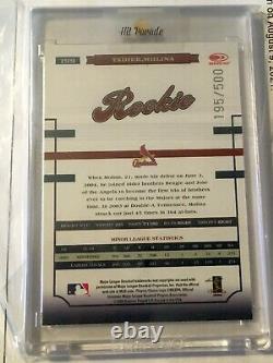 2004 Donruss World Series Yadier Molina Auto Rookie RC #199 Card /500 $$$$$$