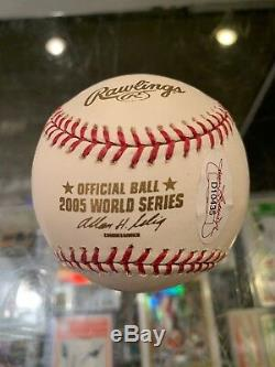 2005 Lance Berkman Houston Astros World Series Signed Baseball Jsa