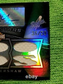 2009 Clayton Kershaw Triple Threads Rising Stars Auto Patch serial # 36 of 50
