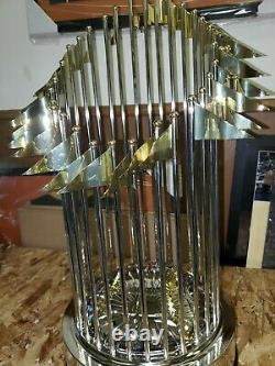2013 Red Sox Autographed Full Size David Ortiz World Series Trophy
