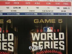 2016 Chicago Cubs Baseball - WORLD SERIES TICKETS UNCUT SHEET OF 11 TICKETS